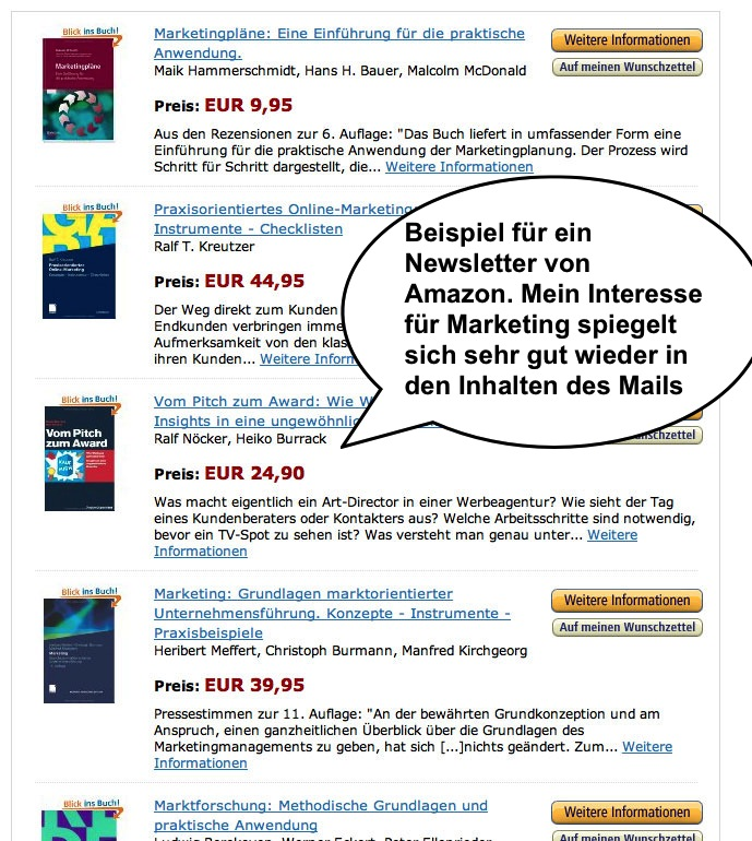 E-Mail-Marketing mit Amazon