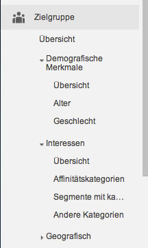 Demografische Aspekte in Google Analytics