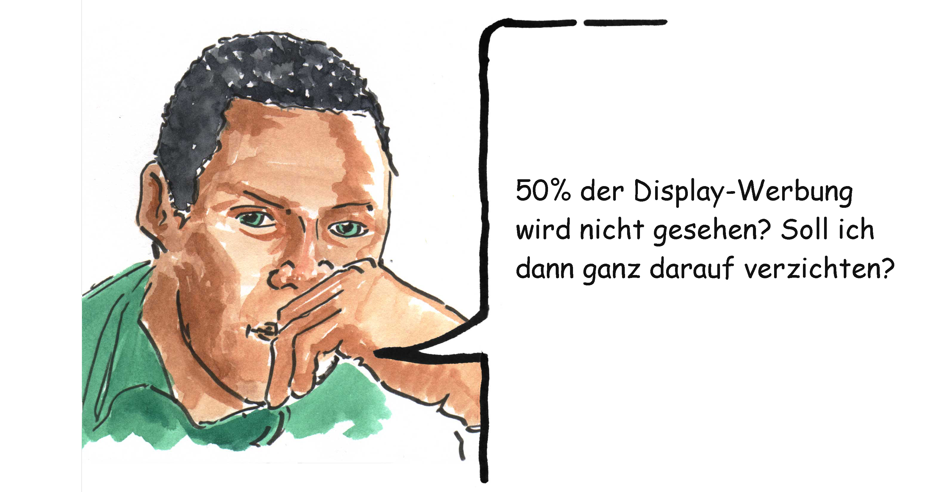 Display-Werbung-Comic