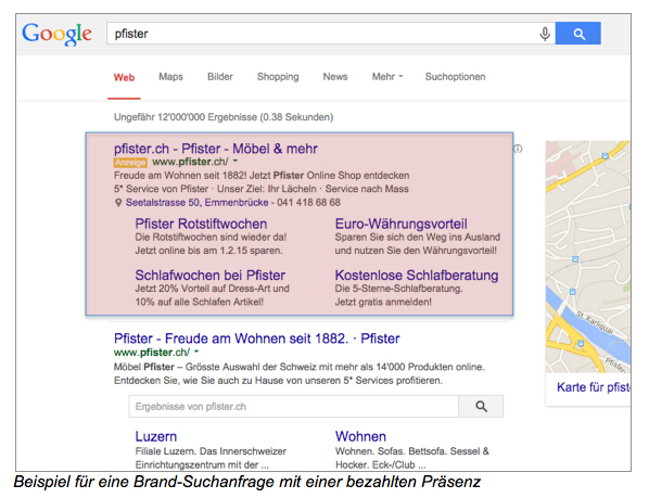 AdWords-Markenanfrage