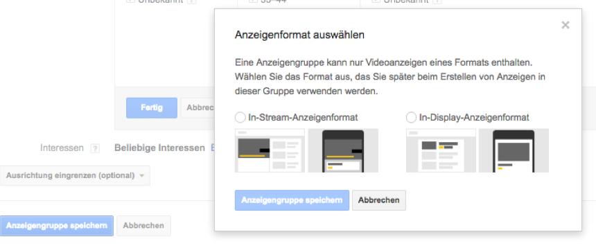 Youtube-Anzeigenformate