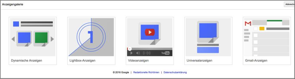 Google Display Anzeigengalerie